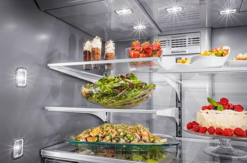 multi-door-fridge-LED-lights-kitchenaid