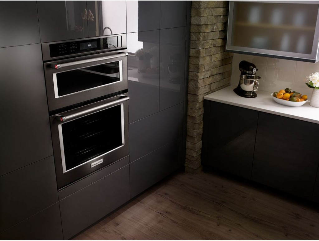wall-oven-even-heat-true-convection-kitchenaid-Black-stainless