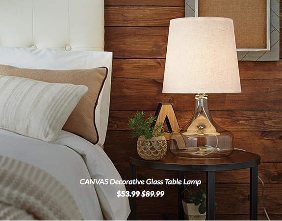 Canvas Decorative Glass Table Lamp Canadian Tire
