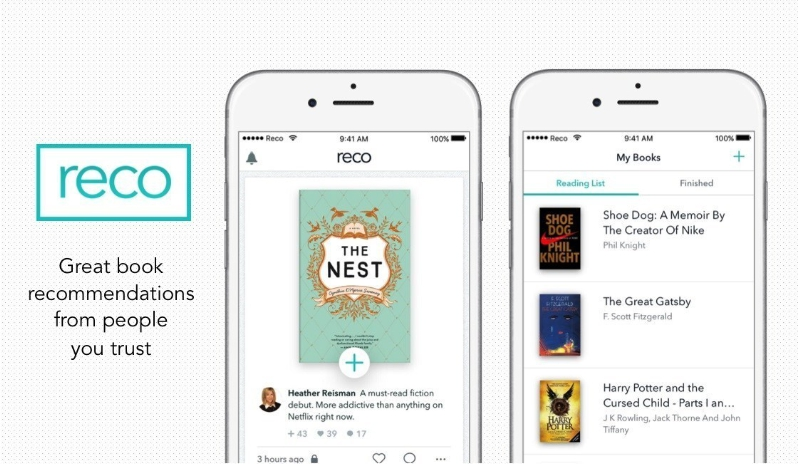 RECO, the first iOS mobile application of its kind, allows users to discover, share, capture, and discuss great books (PRNewsFoto/Indigo Books & Music Inc.)